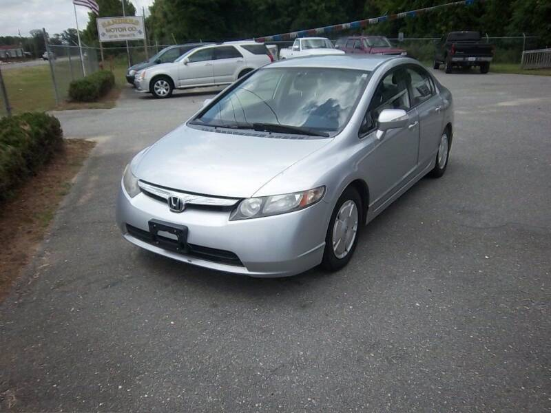 2007 Honda Civic for sale at Sanders Motor Company in Goldsboro NC