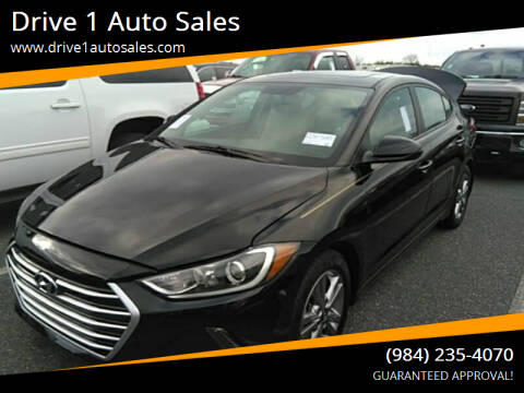 2018 Hyundai Elantra for sale at Drive 1 Auto Sales in Wake Forest NC