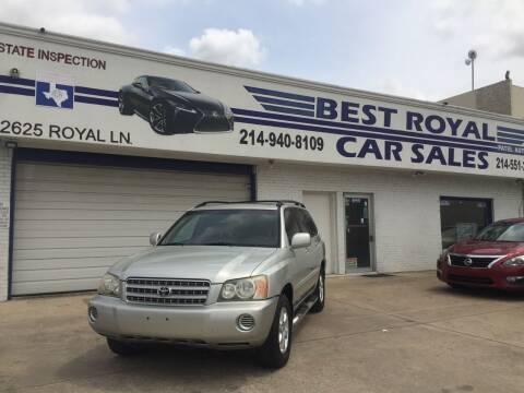 2003 Toyota Highlander for sale at Best Royal Car Sales in Dallas TX