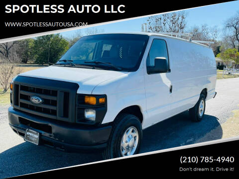 2010 Ford E-Series Cargo for sale at SPOTLESS AUTO LLC in San Antonio TX