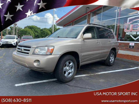 2007 Toyota Highlander for sale at USA Motor Sport inc in Marlborough MA