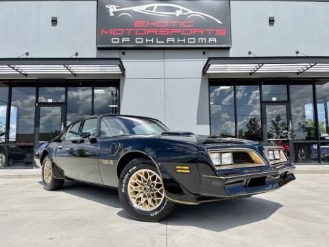 1977 Pontiac Firebird for sale at Exotic Motorsports of Oklahoma in Edmond OK