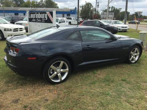 2013 Chevrolet Camaro for sale at LAURINBURG AUTO SALES in Laurinburg NC