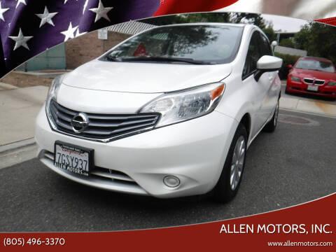 2015 Nissan Versa Note for sale at Allen Motors, Inc. in Thousand Oaks CA