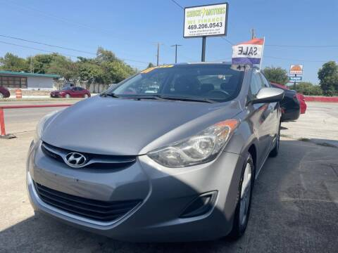 2011 Hyundai Elantra for sale at Shock Motors in Garland TX