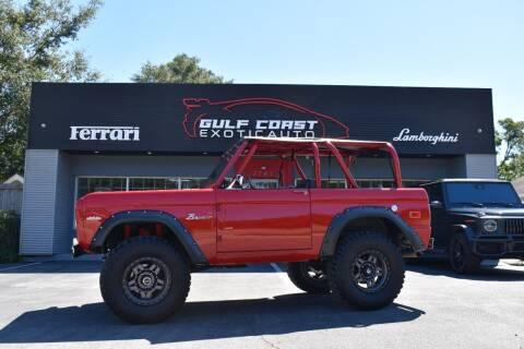 1970 Ford Bronco for sale at Gulf Coast Exotic Auto in Biloxi MS