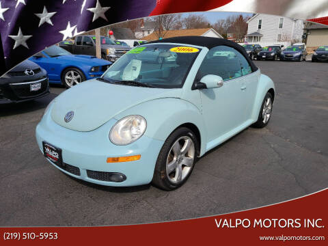 2006 Volkswagen New Beetle Convertible for sale at Valpo Motors Inc. in Valparaiso IN
