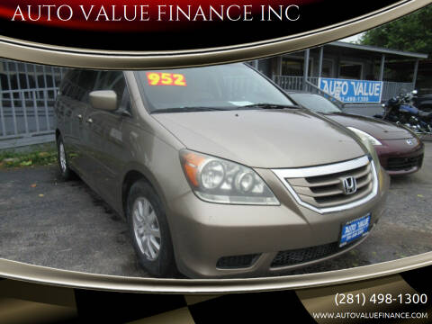 2008 Honda Odyssey for sale at AUTO VALUE FINANCE INC in Stafford TX
