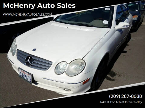 2004 Mercedes-Benz CLK for sale at McHenry Auto Sales in Modesto CA