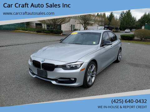 2013 BMW 3 Series for sale at Car Craft Auto Sales Inc in Lynnwood WA