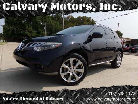 2014 Nissan Murano for sale at Calvary Motors, Inc. in Bixby OK