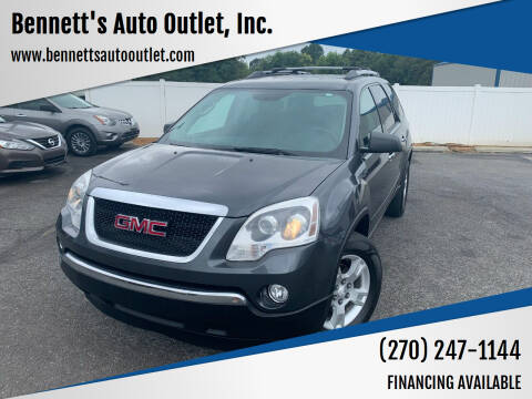 2012 GMC Acadia for sale at Bennett's Auto Outlet, Inc. in Mayfield KY