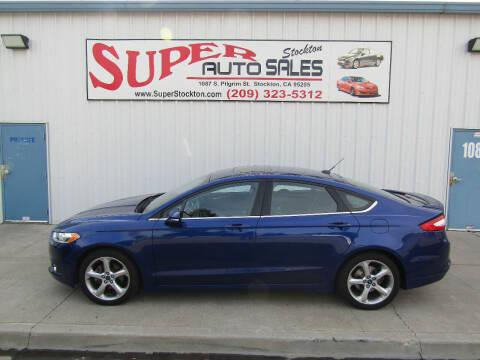 2015 Ford Fusion for sale at SUPER AUTO SALES STOCKTON in Stockton CA