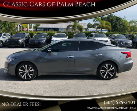 2018 Nissan Maxima for sale at Classic Cars of Palm Beach in Jupiter FL