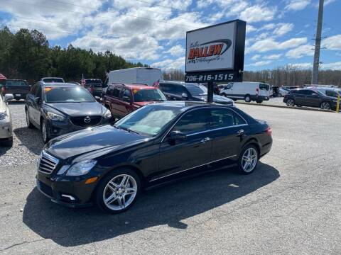 2011 Mercedes-Benz E-Class for sale at Billy Ballew Motorsports in Dawsonville GA