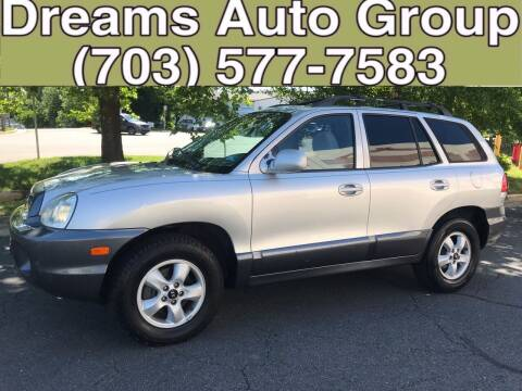 2005 Hyundai Santa Fe for sale at Dreams Auto Group LLC in Sterling VA