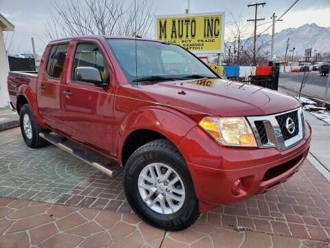 2016 Nissan Frontier for sale at M AUTO, INC in Millcreek UT
