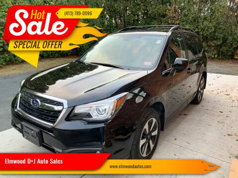 2018 Subaru Forester for sale at Elmwood D+J Auto Sales in Agawam MA
