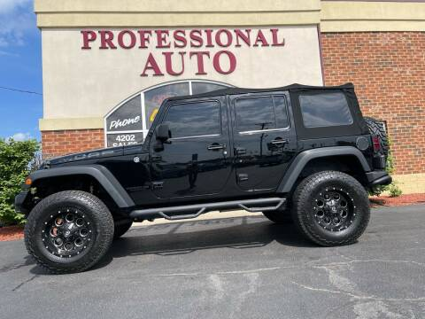 2013 Jeep Wrangler Unlimited for sale at Professional Auto Sales & Service in Fort Wayne IN