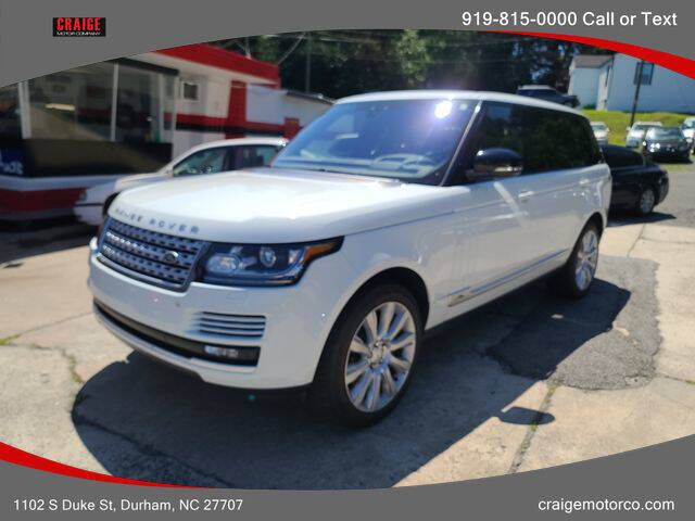 2017 Land Rover Range Rover for sale at CRAIGE MOTOR CO in Durham NC