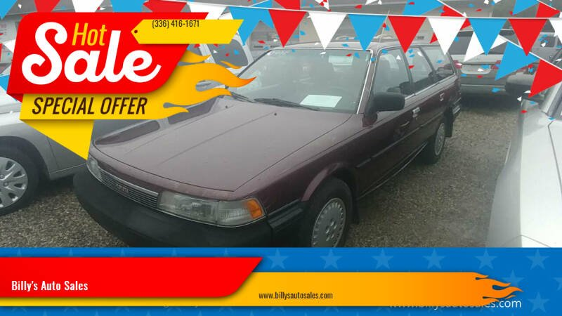 1987 Toyota Camry for sale at Billy's Auto Sales in Winston Salem NC