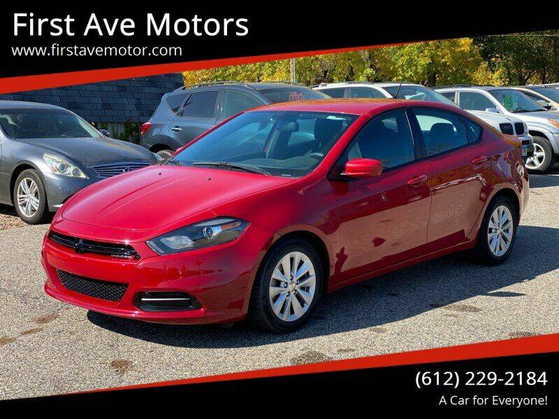 2014 Dodge Dart for sale at First Ave Motors in Shakopee MN