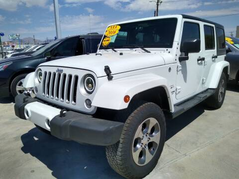 2016 Jeep Wrangler Unlimited for sale at Hugo Motors INC in El Paso TX