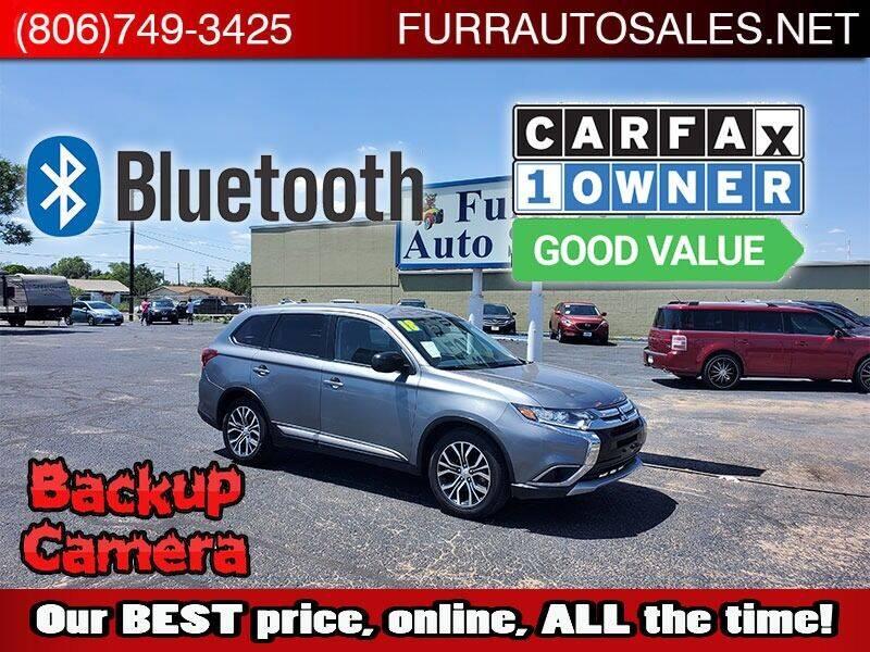 2018 Mitsubishi Outlander for sale at FURR AUTO SALES in Lubbock TX