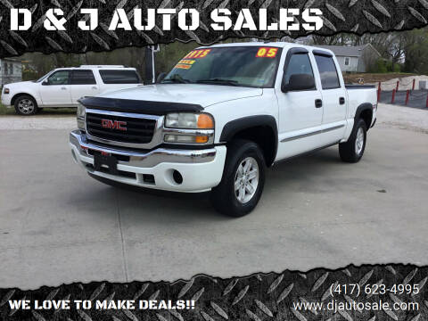 2005 GMC Sierra 1500 for sale at D & J AUTO SALES in Joplin MO
