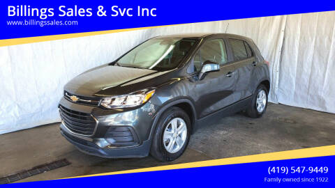 2020 Chevrolet Trax for sale at Billings Sales & Svc Inc in Clyde OH