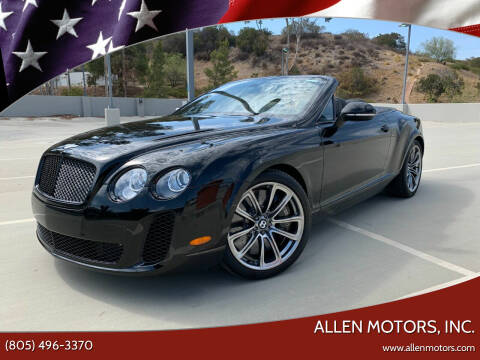 2012 Bentley Continental for sale at Allen Motors, Inc. in Thousand Oaks CA