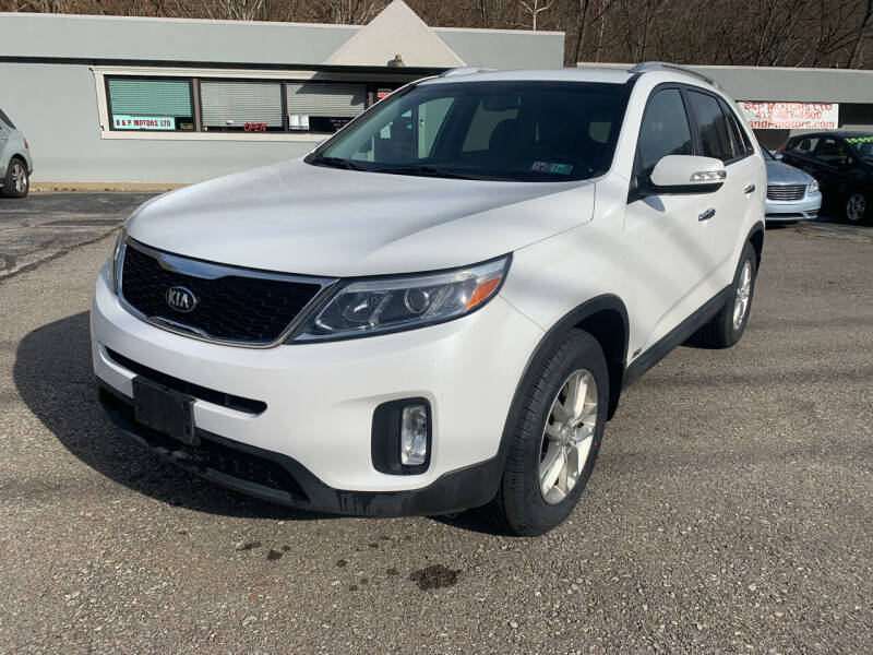 2014 Kia Sorento for sale at B & P Motors LTD in Glenshaw PA
