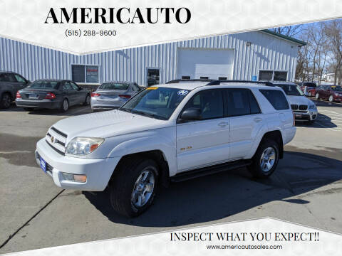 2004 Toyota 4Runner for sale at AmericAuto in Des Moines IA