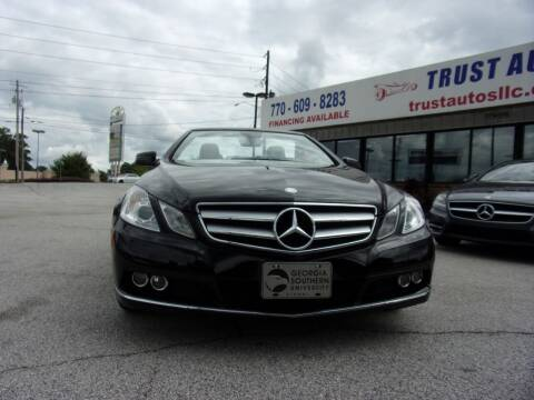 2011 Mercedes-Benz E-Class for sale at Trust Autos, LLC in Decatur GA