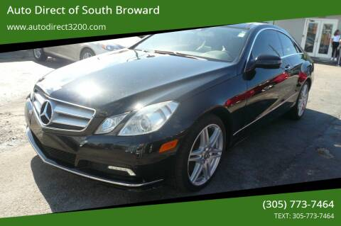 2010 Mercedes-Benz E-Class for sale at Auto Direct of South Broward in Miramar FL