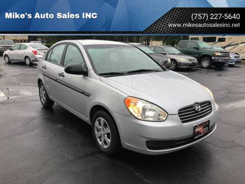 2009 Hyundai Accent for sale at Mike's Auto Sales INC in Chesapeake VA