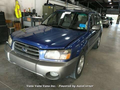 2004 Subaru Forester for sale at Vans Vans Vans INC in Blauvelt NY