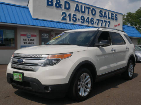 2012 Ford Explorer for sale at B & D Auto Sales Inc. in Fairless Hills PA