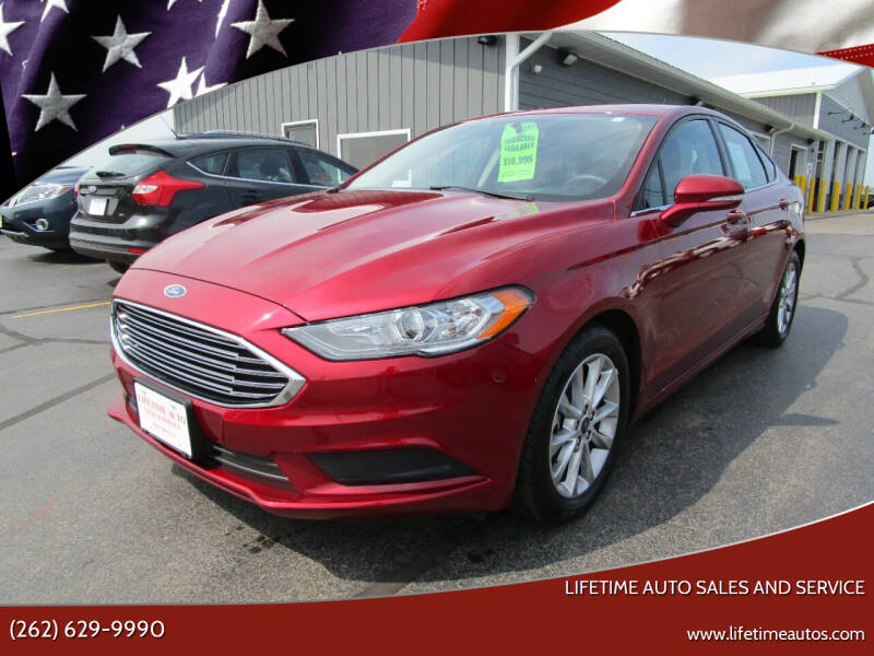 2017 Ford Fusion for sale at Lifetime Auto Sales and Service in West Bend WI