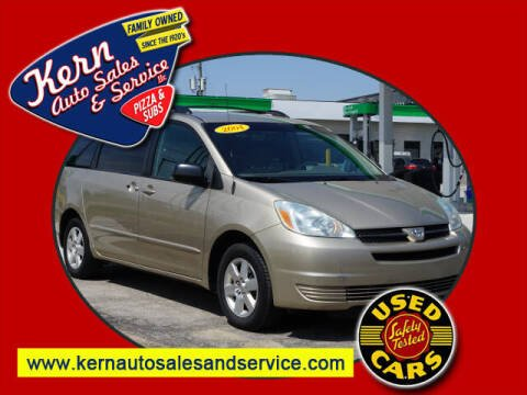 2004 Toyota Sienna for sale at Kern Auto Sales & Service LLC in Chelsea MI