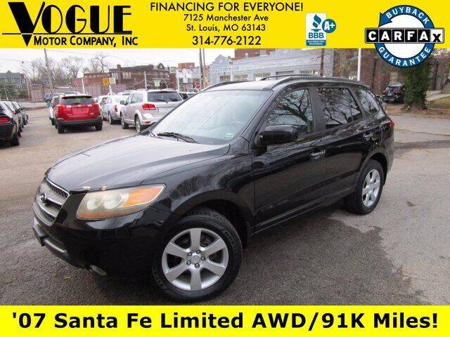 2007 Hyundai Santa Fe for sale at Vogue Motor Company Inc in Saint Louis MO