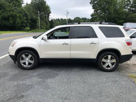 2012 GMC Acadia for sale at Perrys Auto Sales & SVC in Northbridge MA