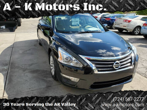 2015 Nissan Altima for sale at A - K Motors Inc. in Vandergrift PA