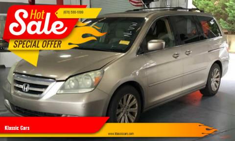 2006 Honda Odyssey for sale at Klassic Cars in Lilburn GA