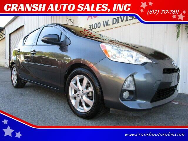 2013 Toyota Prius c for sale at CRANSH AUTO SALES, INC in Arlington TX
