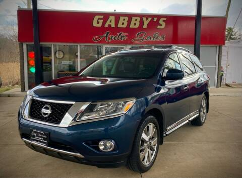2013 Nissan Pathfinder for sale at GABBY'S AUTO SALES in Valparaiso IN
