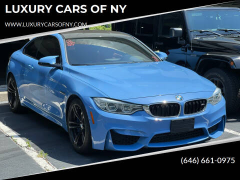 2015 BMW M4 for sale at LUXURY CARS OF NY in Queens NY