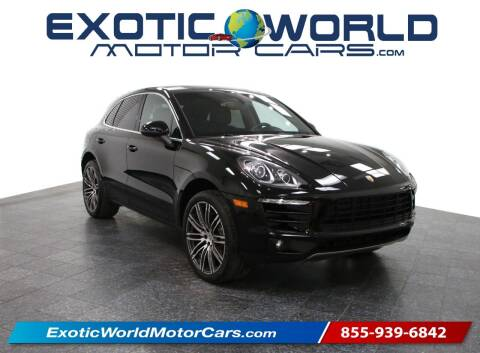 2016 Porsche Macan for sale at Exotic World Motor Cars in Addison TX