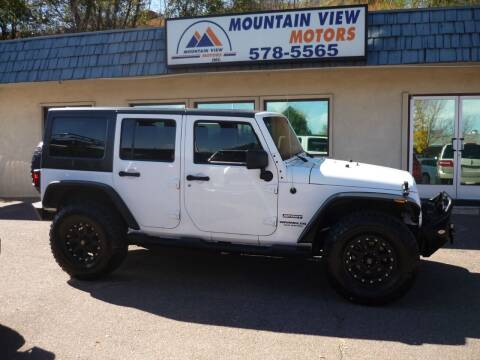2012 Jeep Wrangler Unlimited for sale at Mountain View Motors Inc in Colorado Springs CO