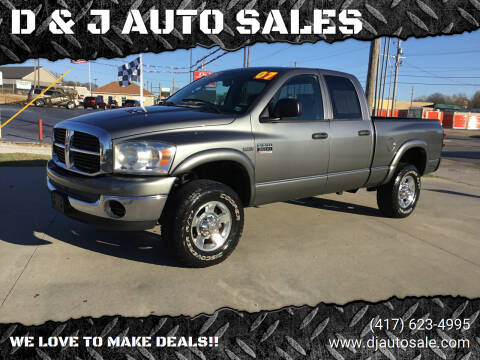 2007 Dodge Ram Pickup 2500 for sale at D & J AUTO SALES in Joplin MO